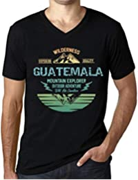 One in the City Hombre Camiseta Vintage Cuello V T-Shirt Gráfico Guatemala Mountain Explorer