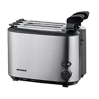 SEVERIN-Automatik-Toaster-Inkl-Sandwich-Zangen-2-Rstkammern-540-W-AT-2516-EdelstahlSchwarz