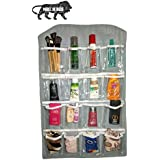 OxbOw® 16-Pocket Mount Bag Hanging Wall Pocket Storage Case,Space Saving Holder, Store Socks, Slippers, Ties, Belt, Sunglasses, Scarf, Lingerie, Clip(80 * 42 cm)
