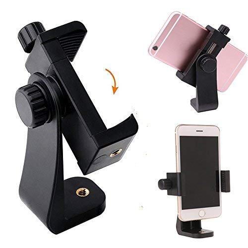 Ulanzi Universal Smartphone Tripod Adapter Cell Phone Holder Mount Adapter Adjustable Clamp for iPhone, Samsung, and Most Smartphones (Black) Cell Adapter