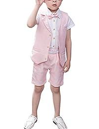 Zhuhaitf Mode 4 Piece Kids Children School Suit for Boys Boys Formal Wedding Blazer Suit Boys Suit Party Tuxedos 4119