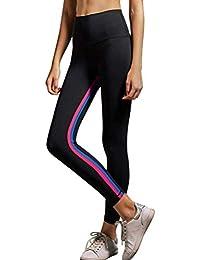 Pantalones Pantalones De Yoga Womens De Especial Estilo Chándal Leggings Sports Pantalones Estampados De Rayas Pantalones