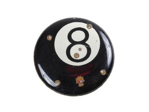Blinki LED Anstecker Blinky Brosche LED Pin Button viele Motive, wählen:Billard Kugel schwarz 89 -