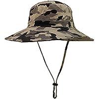 butterme Unisex exterior tiene Busch Sombreros Bucket tiene camuflaje tiene Ripstop Floppy Bucket Verano sombrero con banda de barbilla para senderismo pesca Actividades al aire libre, caqui