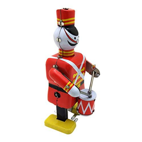 STOBOK Vintage Wind Up Spielzeug Royal Drummer Figur Soldat Nussknacker Roboter Uhrwerk Spielzeug für Büro Tischdekoration (Zufällige Farbe)