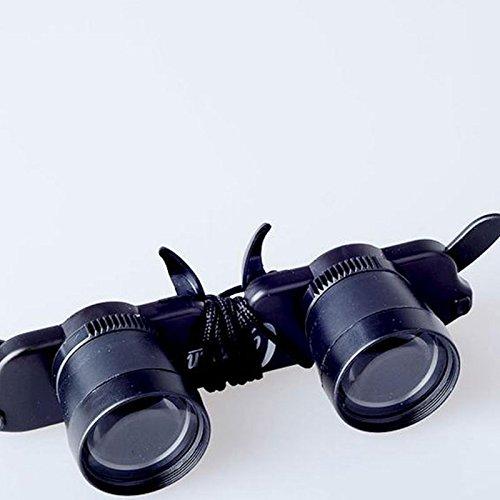 Msmask Telescopio Occhiali Magnifier Eyewear Pesca Escursionismo Concerto Opera Binocolo giornaliera