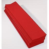 Clairefontaine Maildor–Rollo de Papel, 75% Papel Crepe, Rojo, 2,50x 0,50m, 10Unidades, Hojas