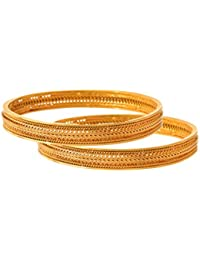 JFL - Traditional & Ethnic One Gram Gold Plated Designer Bangle For Women & Girls.