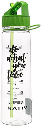nativ-green-motivational-water-bottle-with-time-markings-bpa-free