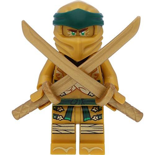 LEGO Ninjago Minifigur Lloyd - Goldener Ninja / Golden Ninja mit Bonus Waffen (Golden Ninjago Lego)