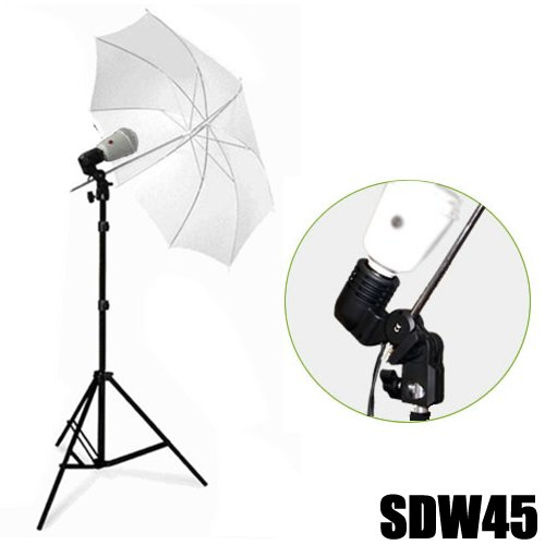DynaSun SDW45 Studioleuchte Synchroblitz Synchronblitzlampe mit Blitzbirne schwarz