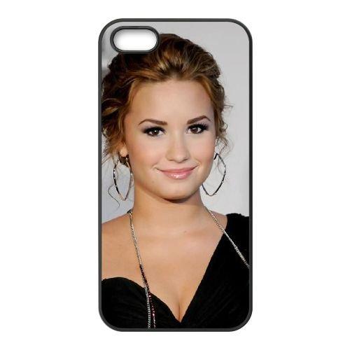 Demi Lovato coque iPhone 5 5S Housse téléphone Noir de couverture de cas coque EBDXJKNBO10658