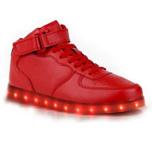 [+Kleines Handtuch]Kinderschuhe USB Lade Licht Jungen emittierende Schuhmädchenschuh leuchtende LED beleuchtete Sportschuhe großer Junge Sc c12