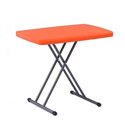 Klapptisch YANFEI Plastikklappbarer Butler-Laptop-Schreibtisch-Höhe 66CM justierbar (Farbe : Orange)