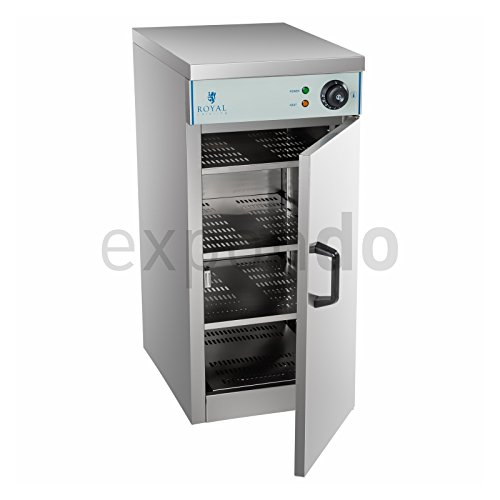 417Bi7OPnsL. SS500  - Royal Catering - RCWS-30 - Electric Plate Warming Cabinet - for up to 60 Plates (max. Diameter: 29 cm) - Temperature Range 30°C - 110°C