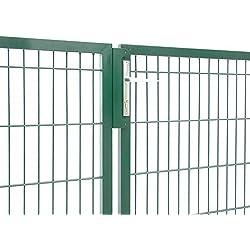Zaun-Nagel Gartentor 2-flgl. zum Doppelstabmattenzaun grün - Höhe 100 cm/Breite 300 cm
