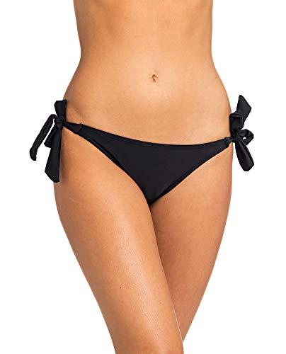 RIP CURL SURF Essentials Good TIE Side,Bikini Surf-Bikini,Hose, Pant, Good Coverage,Black,L - Brazilian Tie Bikini Mit Top