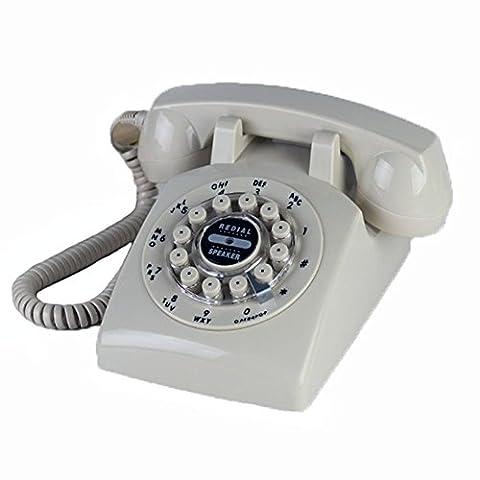 Antikes Festnetztelefon Schnurgebundenes Telefon Metalldrehscheibe Retro Mechanischer Klingelton Ruffreisprechen Über 22 5 x breit 13 5 x hoch 11 cm