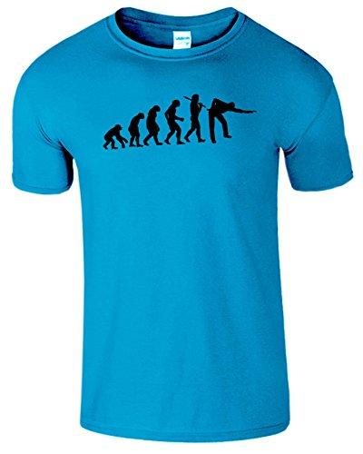 Evolution Of Snooker Herren T Shirt Schwimmbad Komisch Spiel Antik Saphir / Schwarz Design