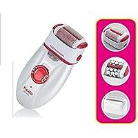 DUYX Harte Füße, 3 in 1 Frauen Haarentfernung Instrument Elektrorasierer Cordless Rupfen Fuß Griff Peeling Exfoliator preisvergleich bei billige-tabletten.eu
