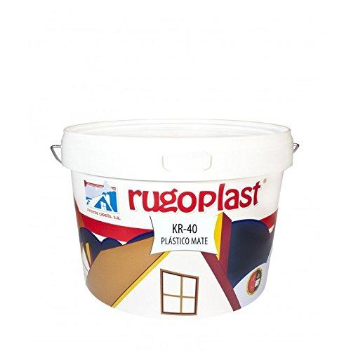 Pintura plástica blanca mate lavable de alta calidad interior / exterior ideal para decorar tu casa ( salón, cocina, baño, dormitorios... ) KR-40 (10 Kg) Envío GRATIS 24 h.