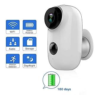 Akku-Outdoor-Überwachungskamera, wasserdicht Drahtlose 720P Akku Surveillance System Powered, WiFi IP-HD-CCTV-Video-Monitor Haus
