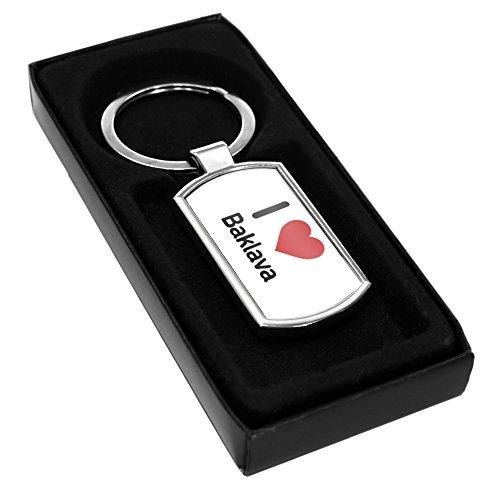 I Love Baklava 1847 Metall Schlüsselanhänger