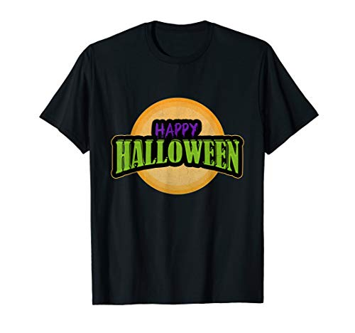 Funny Happy Halloween Trick or Treat Mond Damen Herren  T-Shirt (Halloween Für Damen Happy)