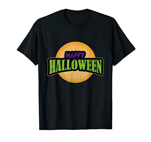 Funny Happy Halloween Trick or Treat Mond Damen Herren  T-Shirt