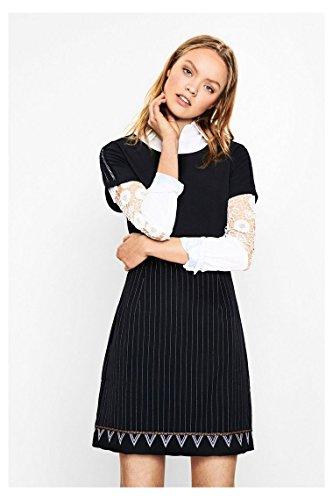 DESIGUAL - Vestito donna manica corta sara 36 (xs) nero