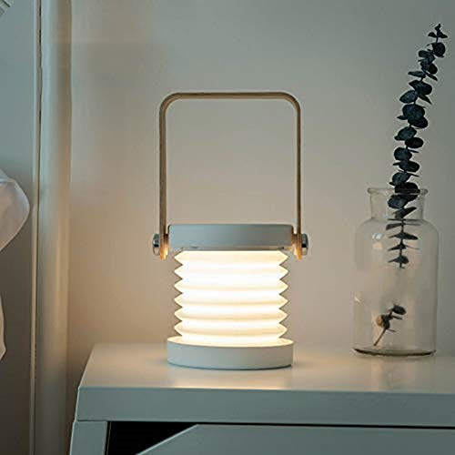 DZFDZ Faltbare Touch Dimmable Lesung Led Nachtlicht Tragbare Laterne Lampe USB Wiederaufladbare Für Kinder Kinder Geschenk Nacht Schlafzimmer Warmweiß (Kinder-led-laterne)