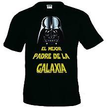 "Camiseta Star Wars ""Darth Vader,el mejor padre"" manga corta (Talla: Talla XXL Unisex Ancho/Largo [60cm/75cm] Aprox])"