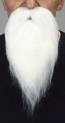 Mustaches Selbstklebende Neuheit Philosopher Fälscher Bart Falsch Gesichtsbehaarung Kostümzubehör für Erwachsene Weißer Farbe