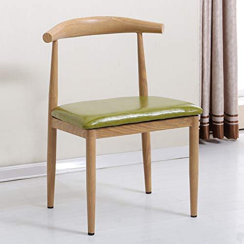 Freizeitstuhl,SEEKSUNGM Stuhl, einzelne Holz-Horn-Stuhl, Low-Carbon-Öko-Restaurant Stuhl, einfache...