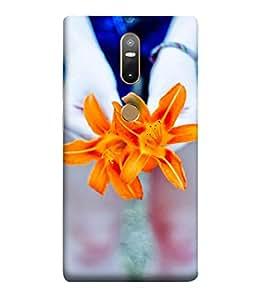 Fuson Designer Back Case Cover for Lenovo Phab 2 Plus :: Lenovo Phab2+ (Fabric Design Flower Leather Steel)