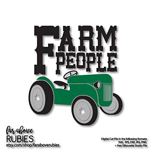 isti Farm People Vintage Old Tractor Aufkleber in Einer Farbe oder Mehreren Ebenen, nur für Bauernhaus Vintage-bauernhaus