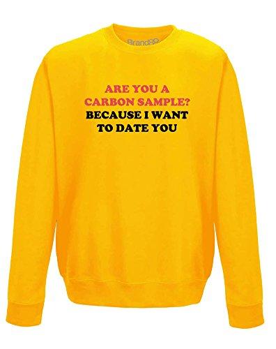 Carbon Dating, Erwachsene Gedrucktes Sweatshirt - Gold/Schwarz M = 102cm