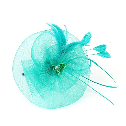 enhut Organza-Kirche Kentucky Derby British Bridal Tea Party Super Feenhaftes Haarstirnband Kopfbedeckung Süßes Prinzessin Hochzeits Kopfschmuck ()