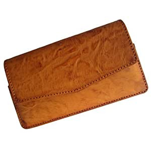 i-KitPit : PU Leather Pouch Case Cover For iBall Andi 4.5 Ripple 3G (TAN BROWN)