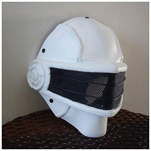 Monster Mechanische Krieger Halloween Horror Motorrad Lokomotive Maske Legierung Ausrüstung Gijoe Spezialeinheiten (Color : White) ()