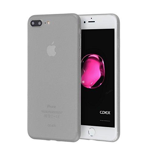 doupi UltraSlim Hülle für iPhone 8 Plus / 7 Plus (5,5 Zoll), Ultra Dünn Fein Matte Oberfläche Handyhülle Cover Bumper Schutz Schale Hardcase Design Schutzhülle, grau