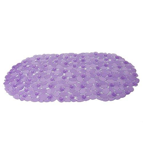 Generic Pavers Pattern Non-Slip Bath Mat Pad Bathroom Kitchen Decoration- Purple