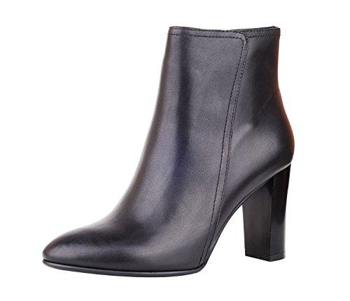 <span class='b_prefix'></span> NIUERTE Women's Genuine Leather Chunky Heel Almond Toe Zipper Classic Booties