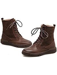 Botas térmicas de invierno para mujer Cabeza redonda de matorral plano Zapatos casuales botas para caminar , 41...