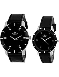 Swisso Stylish Analog Formal Analog Watch For Men & Women (SWS-376-BL) - Pack Of 2