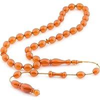 Master of Business (artesanía de arena), rosario de ámbar naranja oscuro de Zara