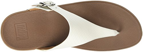 FitFlop The Skinny, Sandales  Bout ouvert femme Off-White (Urban White)