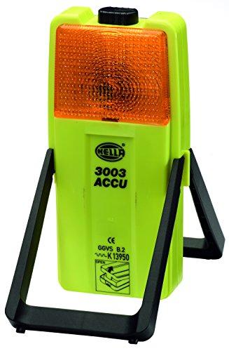 HELLA 2XW 007 146-011 Warnleuchte Modell 3003, Kombi Warnblink-/Arbeitsleuchte, gelb/weiß, 6V-Glühlampe für Batteriebetrieb, mit Blinklicht (Gelb Voll Bettwäsche)
