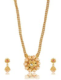 Fashion For Sure Gold Plated Multi-Strand Necklace Set For Women (N82)