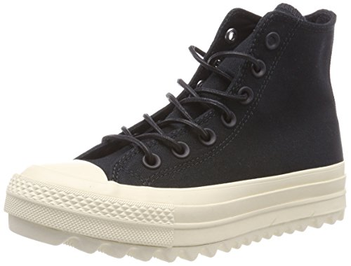 Converse Chuck Taylor Ctas Lift Ripple Hi Canvas, Sneaker a Collo Alto Unisex – Adulto, Nero Black/Natural 001, 38 EU
